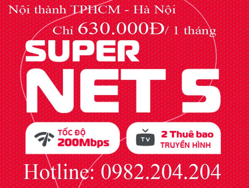 Lắp home wifi Viettel gói Supernet 5 nội thành Hà Nội TPHCM