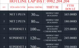 Bảng Giá Các Gói Cước Đăng Ký Lắp Mạng Internet Cáp Quang Wifi Viettel Tiền Giang 2021