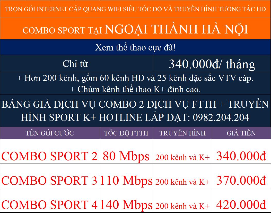 Ưu đãi combo internet truyền hình K+ Viettel tại ngoại thành Hà Nội