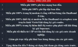 Khuyến Mãi Đăng Ký Lắp Mạng Internet Cáp Quang Wifi Viettel Quận 2 HCM 2021