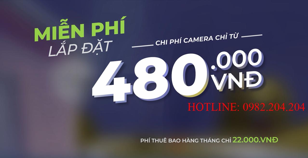 Chương trình ưu đãi khuyến mãi miễn phí lắp đặt Home Camera Viettel