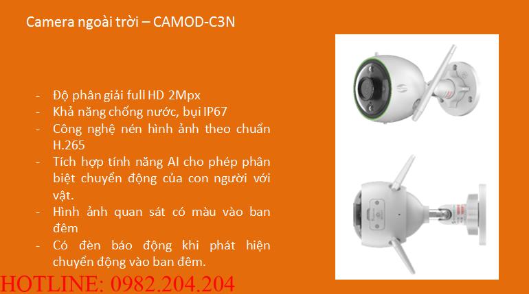 Tính năng thông số loại Camera ngoài trời Home Camera Wifi Viettel CAMOD-C3N