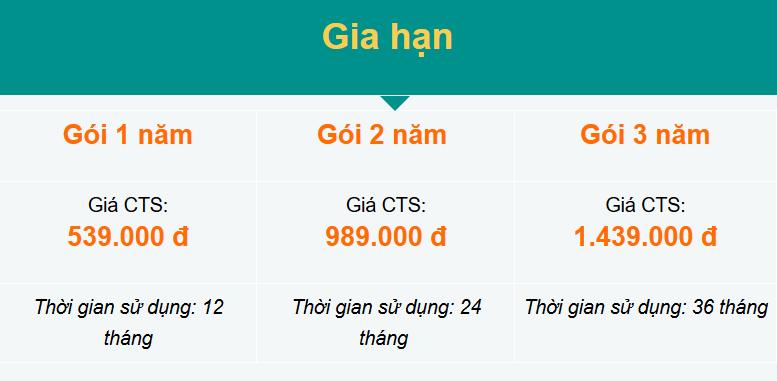 Bảng giá dịch vụ chữ ký số Viettel trên sim CA dành cho khách hàng doanh nghiệp đăng ký gia hạn