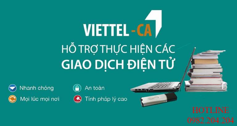 Dịch vụ chữ ký số Viettel thị phần số 1 tại Việt Nam.