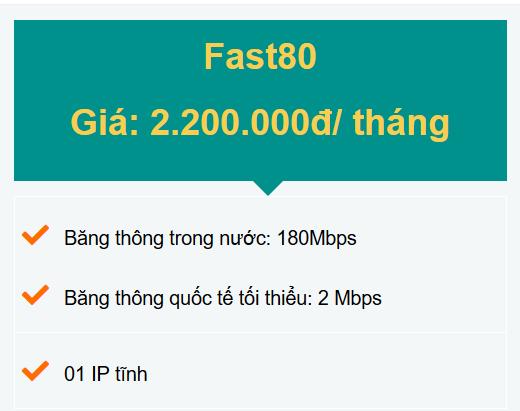 Gói Fast80 doanh nghiệp
