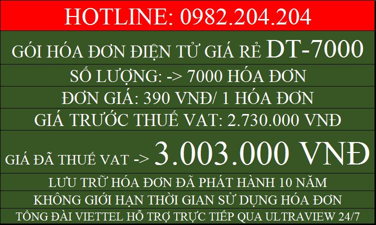 Hóa đơn điện tử HCM giá rẻ gói DT7000 chỉ 3003000