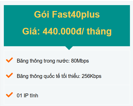 gói fast40plus doanh nghiệp