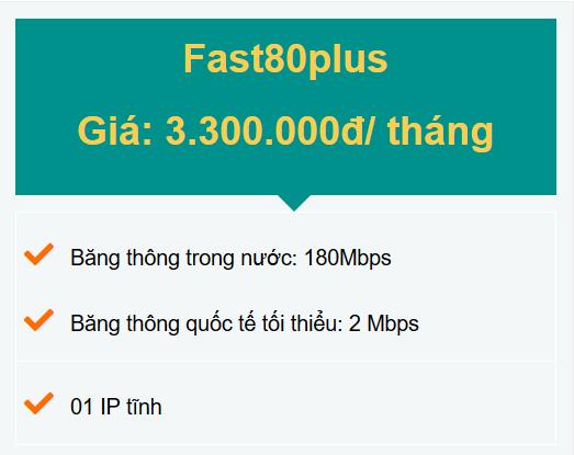 gói fast80plus doanh nghiệp