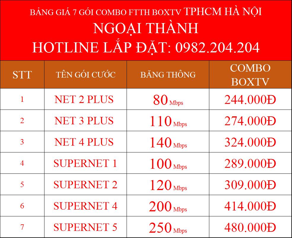 7 gói cước combo wifi và truyền hình cáp Viettel 2021 ngoại thành HCM và Hà Nội