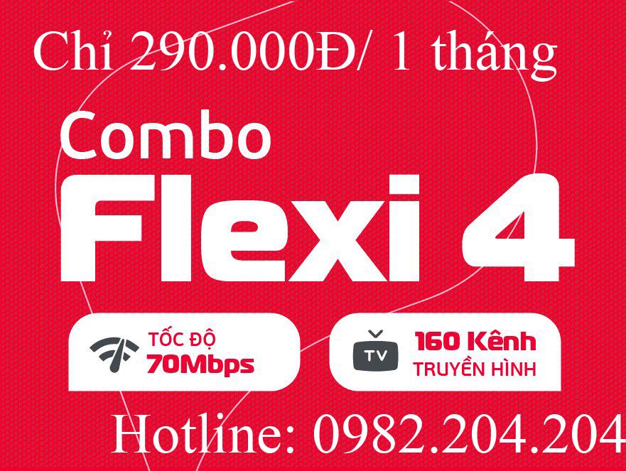 Gói cước cáp quang Viettel combo flexi 4