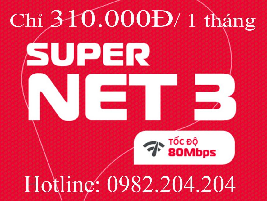 Lắp home wifi Viettel gói Supernet 3