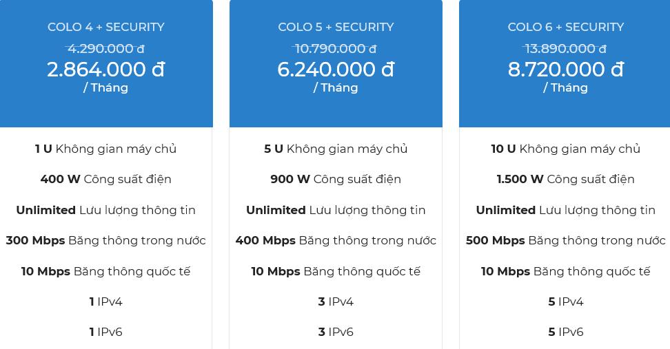 Bảng giá dịch vụ cho thuê chỗ đặt thiết bị Viettel gói Bundle security 2
