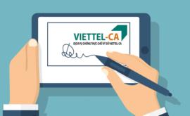 Bảng giá gia hạn chữ ký số Viettel giá rẻ