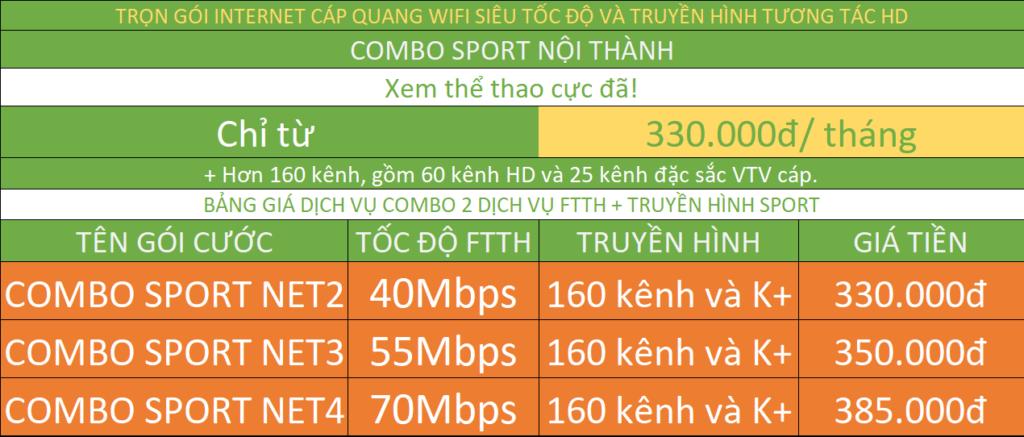 Tổng đài mạng internet cáp quang wifi Viettel combo FTTH và truyền hình số K Plus Viettel nội thành