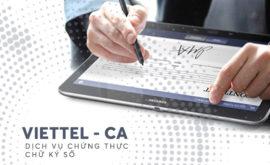 bảng giá gia hạn chữ ký số viettel tại Đà Nẵng 2020