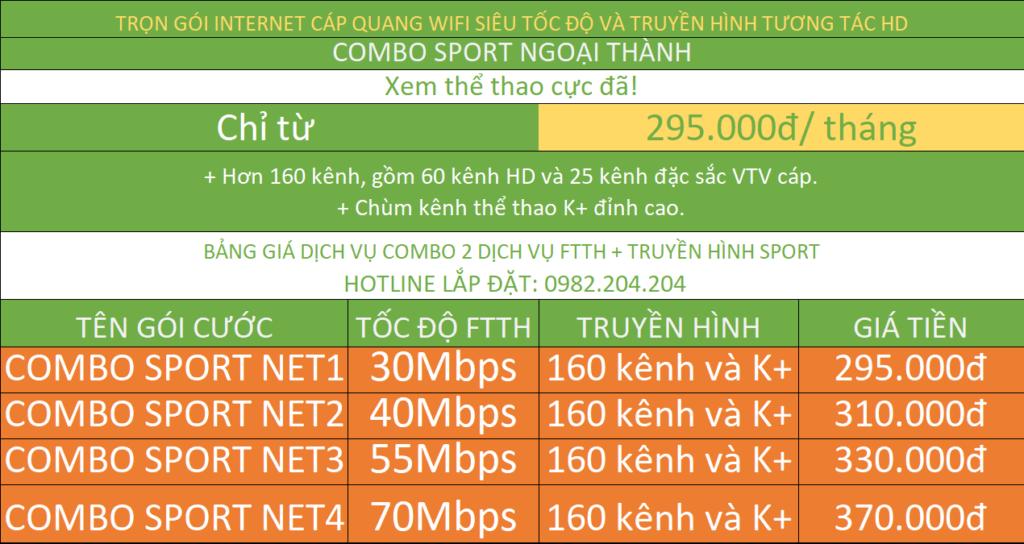 Lắp Đặt Wifi Tại Nhà và truyền hình K plus gói combo