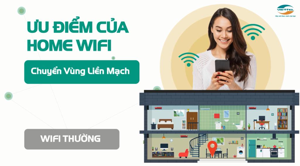 Ưu điểm Dịch Vụ Home Wifi Viettel chuyển vùng liền mạch
