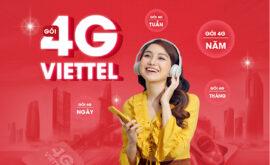 Các gói internet data 4g 5g Viettel