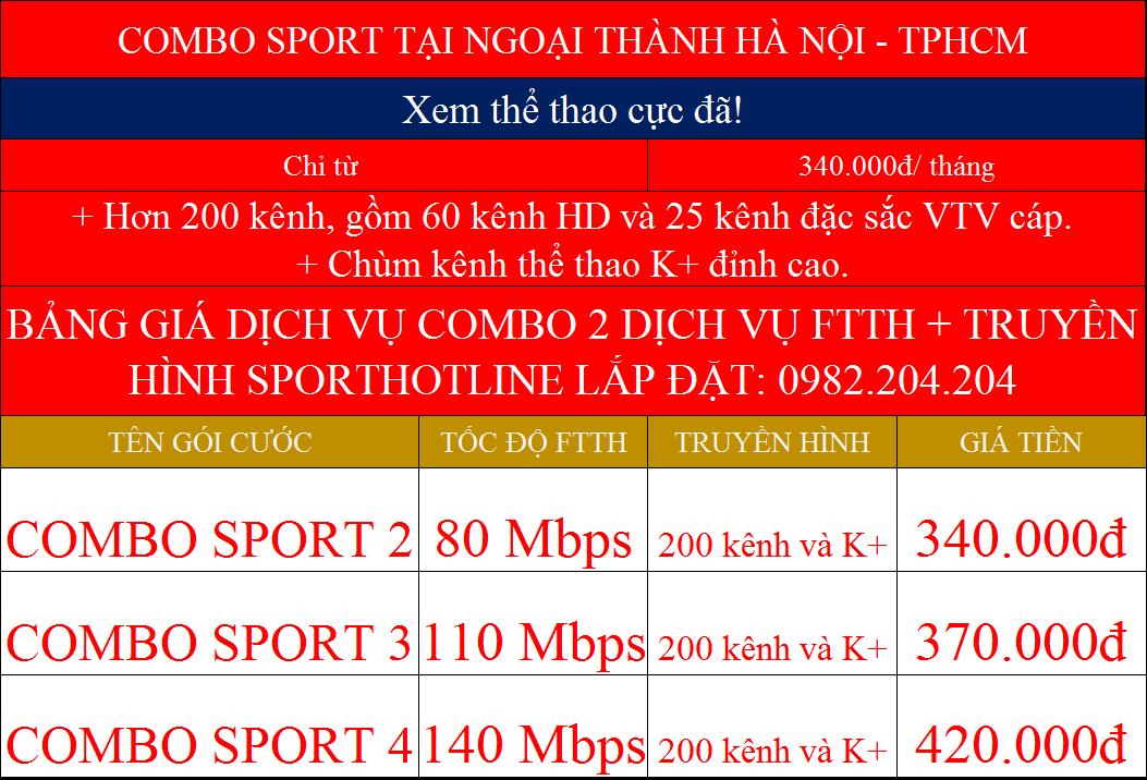 Combo internet wifi Viettel truyền hình K+ ngoại thành Hà Nội TPHCM