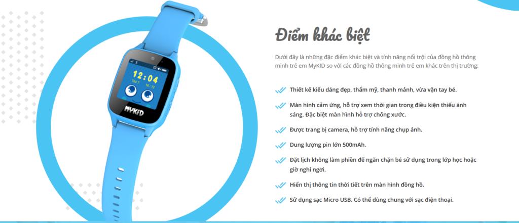 Điểm khác biệt của đồng hồ định vị trẻ em Viettel Mykid 2020