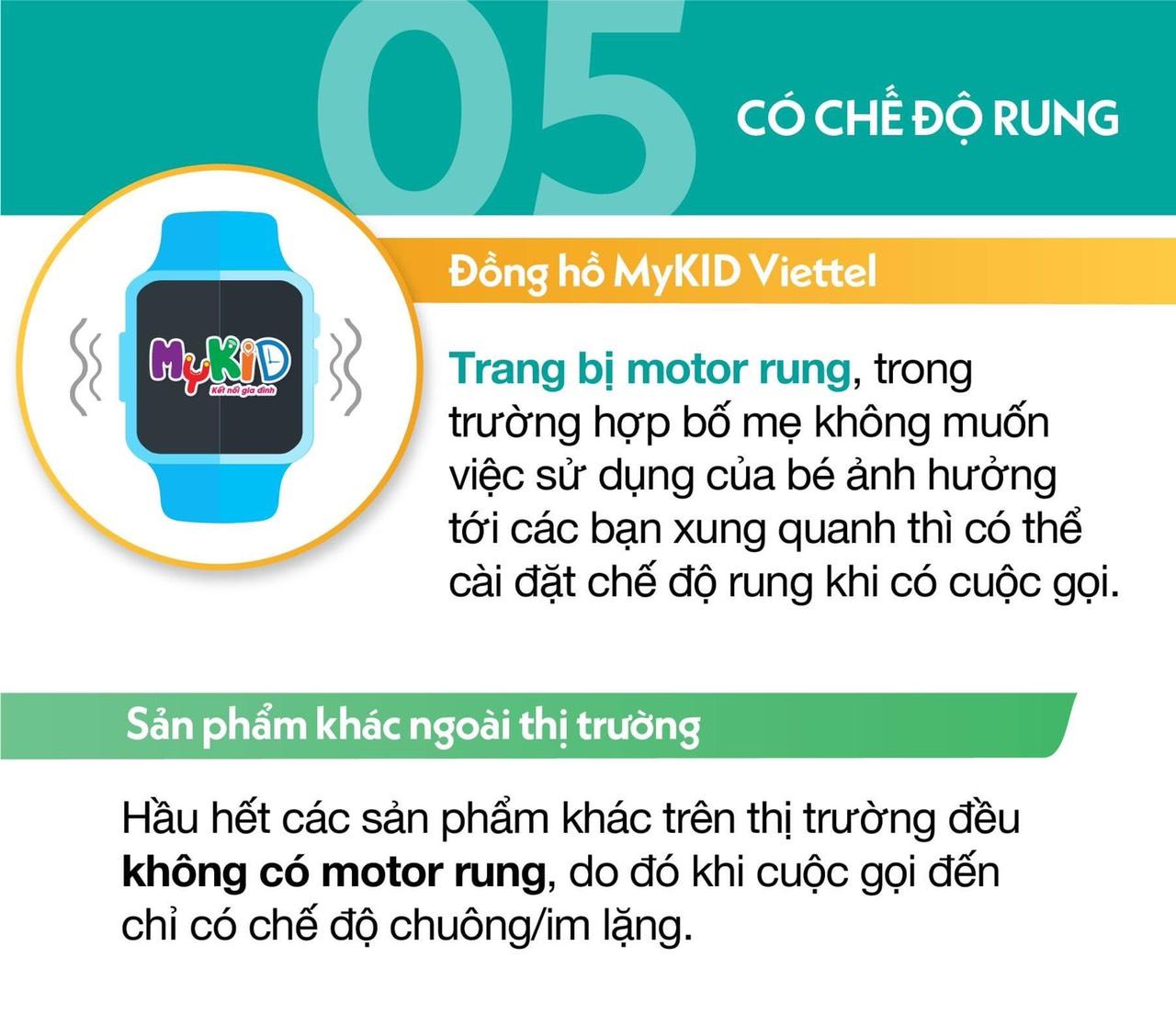 5. Mykid Viettel trang bị motor rung.