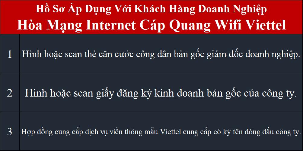 Bảng giá wifi Viettel