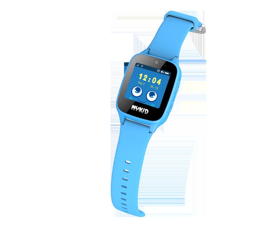 Đồng hồ định vị trẻ em Viettel màu xanh cho bé trai.