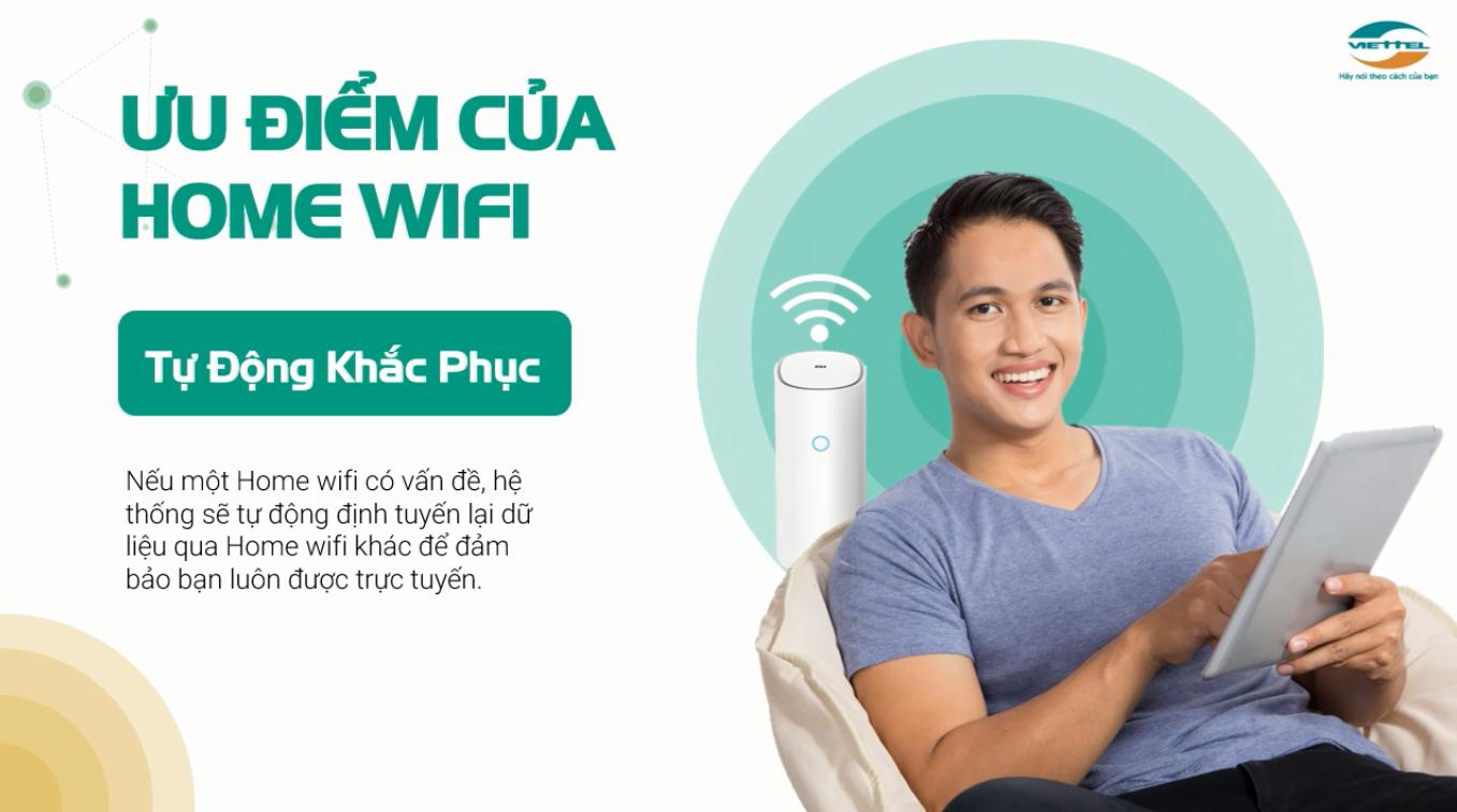 Ưu điểm tự động khắc phục của thiết bị Home wifi Viettel.
