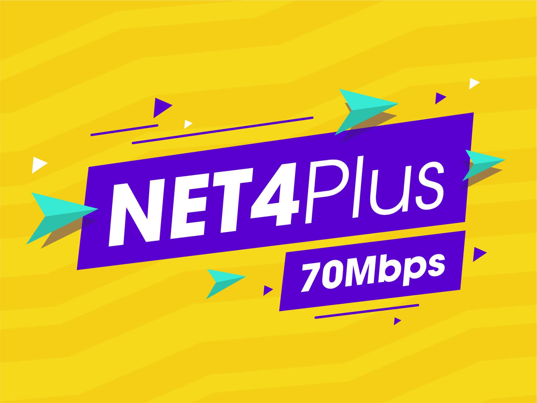 Internet Cáp Quang Wifi Gói Net 4 plus Viettel plus 70 Mbps