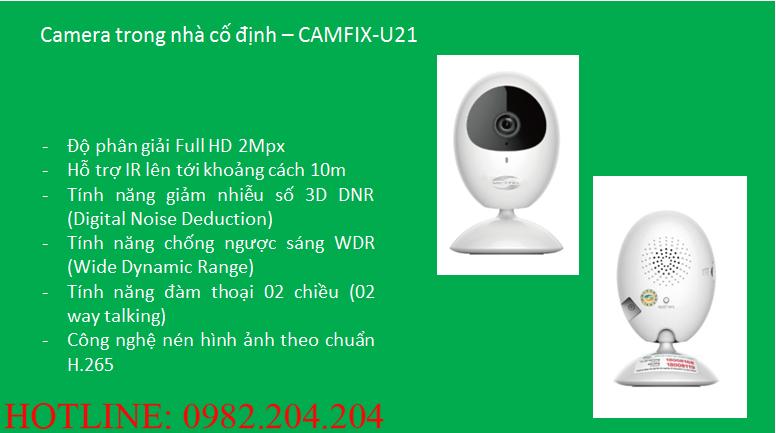 Tính năng thông số loại Camera trong nhà cố định Home Camera Viettel CAMIX-U21