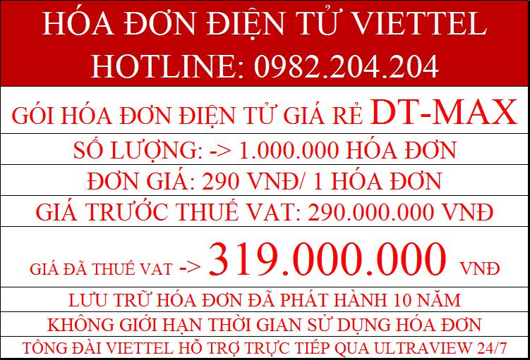 hóa đơn điện tử Viettel DT-Max