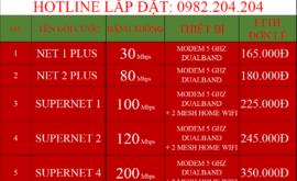 Bảng Giá Các Gói Cước Mạng Internet Cáp Quang Wifi Viettel Thống Nhất Đồng Nai 2021