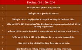 Lắp Mạng Internet Cáp Quang Wifi Viettel Đức Huệ Long An 2021