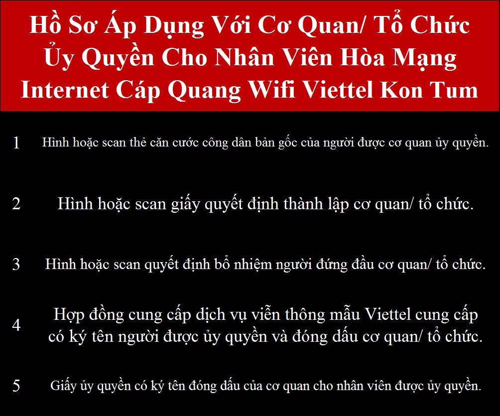 Đăng Ký internet Viettel Kon Tum