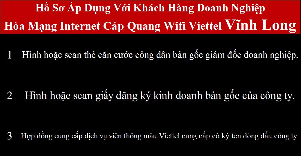 Đăng ký cáp quang Viettel Vĩnh Long