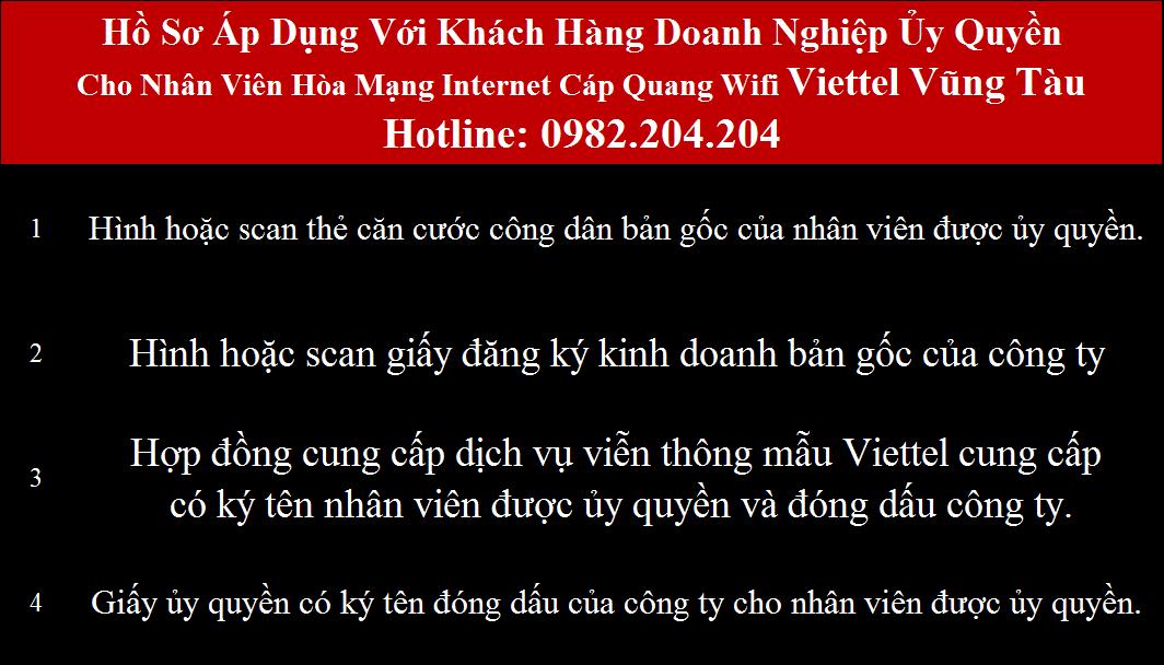 Đăng ký mạng Viettel Bà Rịa Vũng Tàu