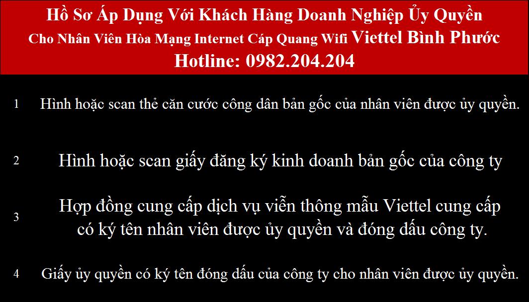 Đăng ký mạng Viettel Bình Phước