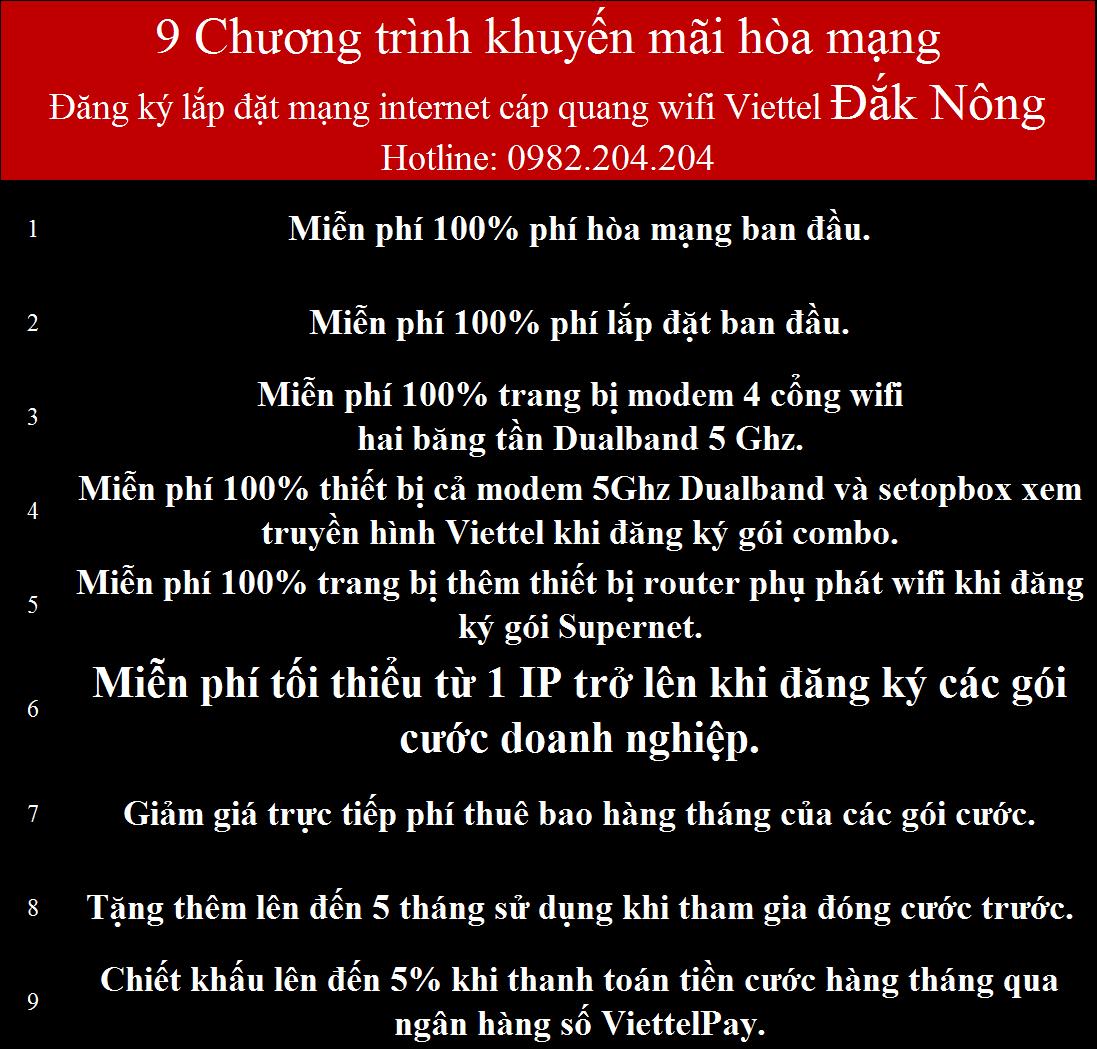 Đăng ký mạng Viettel Đắk Nông