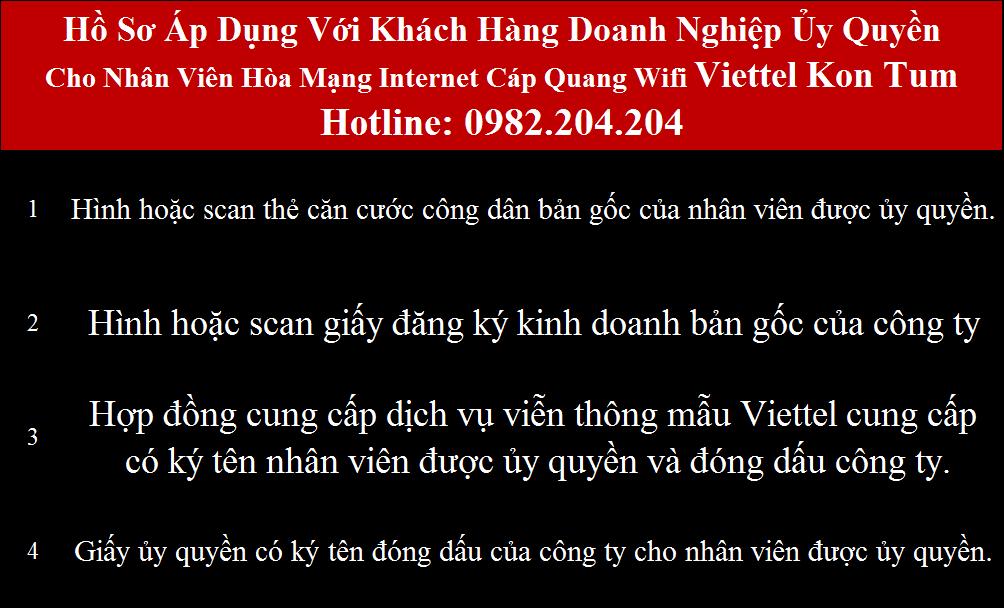 Đăng ký mạng Viettel Kon Tum