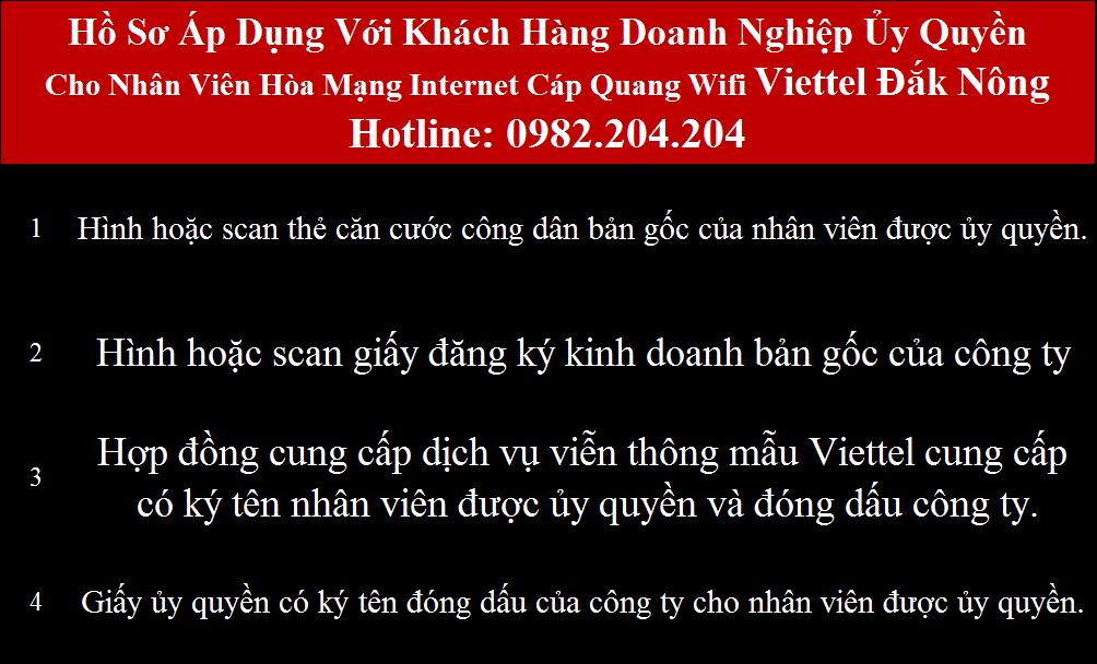 Đăng ký wifi Viettel Đắk Nông