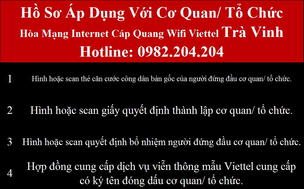 Đăng ký wifi Viettel Trà Vinh