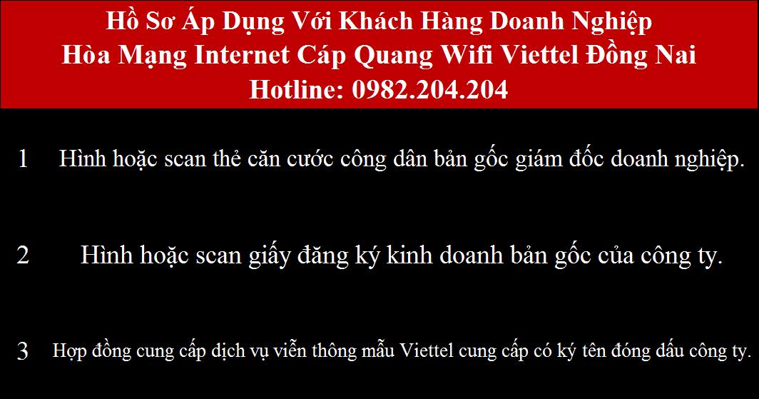 Gói Cước Cáp Quang Viettel Đồng Nai