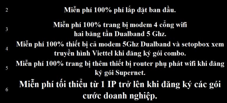 Khuyến Mãi Lắp Mạng Internet Cáp Quang Wifi Viettel Bình Minh Vĩnh Long 2021 Mới