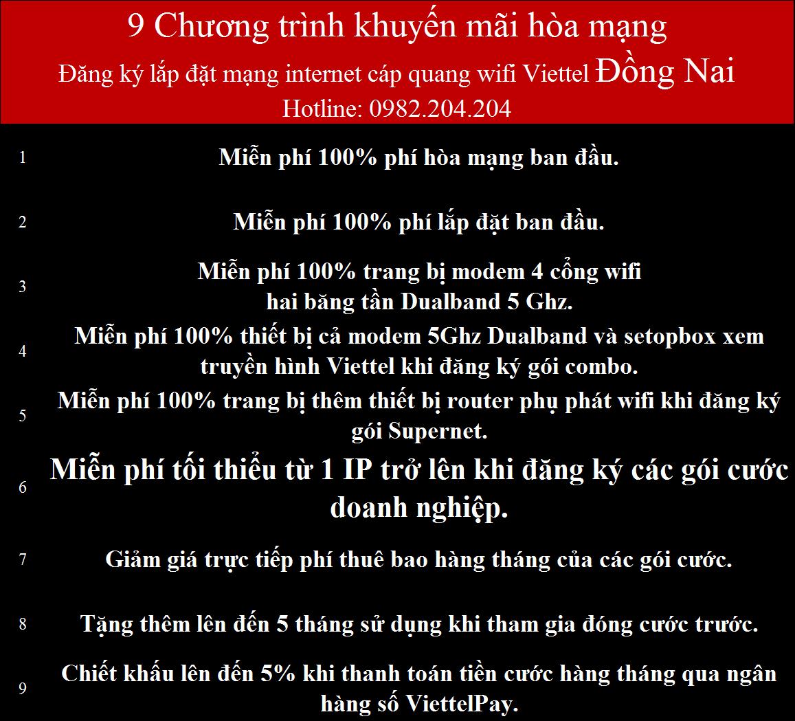 Lắp Cáp Quang Viettel Đồng Nai