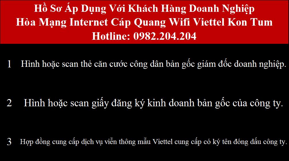Lắp cáp quang Viettel Kon Tum