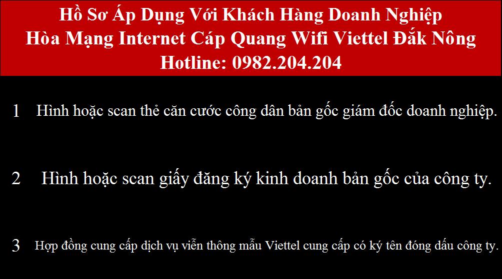 Lắp mạng Viettel Đắk Nông