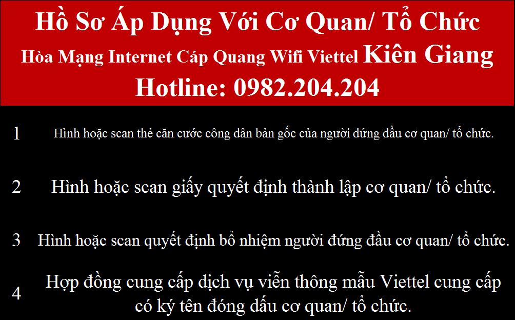 Lắp mạng Viettel Kiên Giang