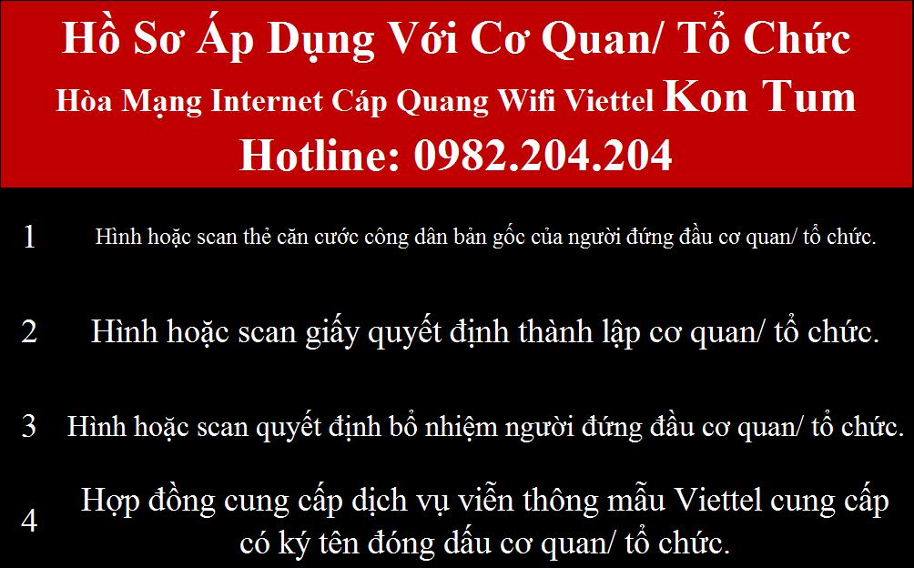 Lắp wifi Viettel Kon Tum
