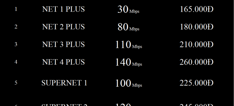 Bảng Giá Các Gói Cước Internet Cáp Quang Wifi Viettel Thanh Hóa 2021