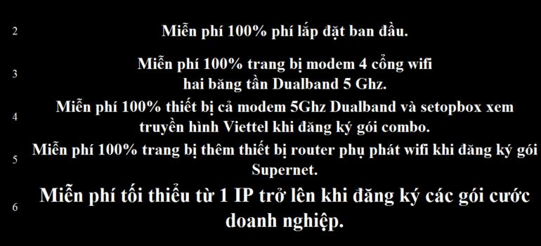 Khuyến Mãi Lắp Mạng Internet Cáp Quang Wifi Viettel Quảng Bình 2021